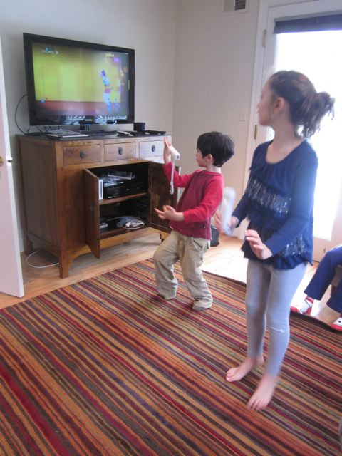 Who knew he'd like wii dancing so much?